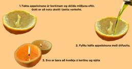 Hvernig búa á til appelsínukerti